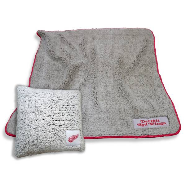 Logo Detroit Red Wings Frosty Blanket And Pillow Bundle product image