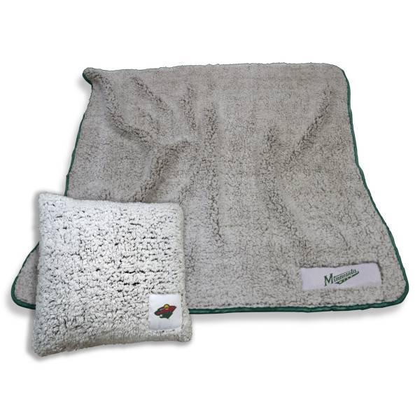 Logo Minnesota Wild Frosty Blanket And Pillow Bundle product image