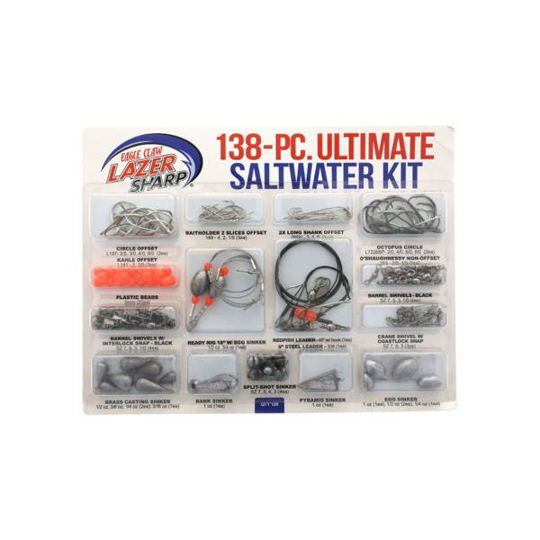 Eagle Claw Lazer Sharp Ultimate Saltwater Terminal Tackle Kit – 138 Pieces product image