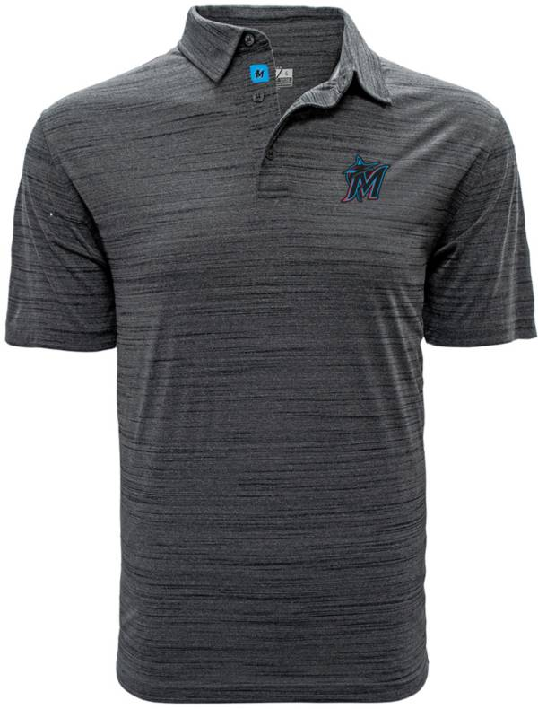 Levelwear Men's Miami Marlins Grey Sway Polo product image