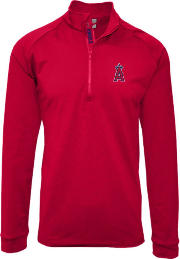 Levelwear Men's Los Angeles Angels Red Calibre Icon Quarter-Zip Shirt product image