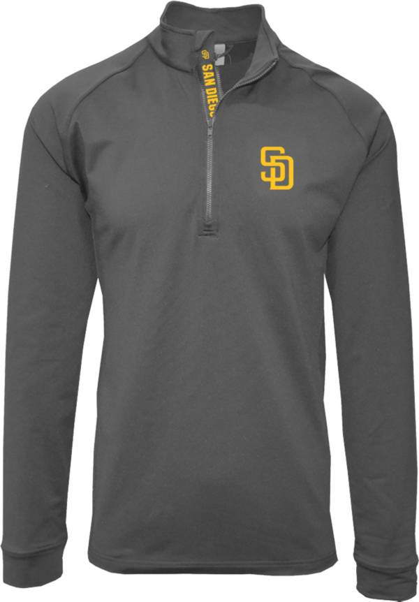 Levelwear Men's San Diego Padres Grey Calibre Icon Quarter-Zip Shirt product image