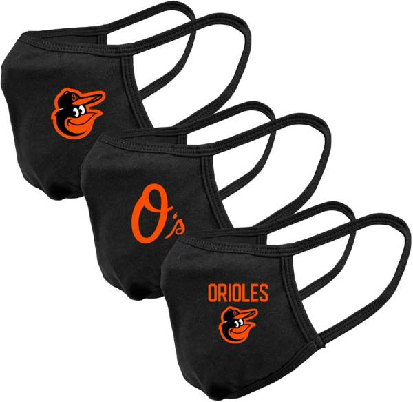 Levelwear Adult Baltimore Orioles 3-Pack Face Coverings product image