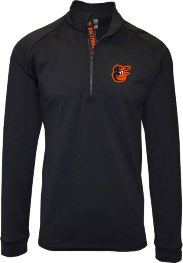 Levelwear Men's Baltimore Orioles Black Calibre Icon Quarter-Zip Shirt product image