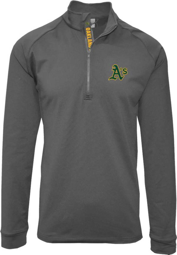 Levelwear Men's Oakland Athletics Grey Calibre Icon Quarter-Zip Shirt product image