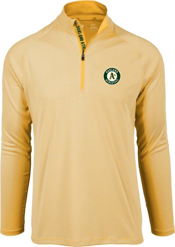 Levelwear Men's Oakland Athletics Yellow Orion Quarter-Zip Shirt product image