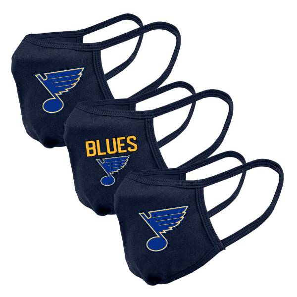 Levelwear Adult St. Louis Blues 3-Pack Face Coverings product image
