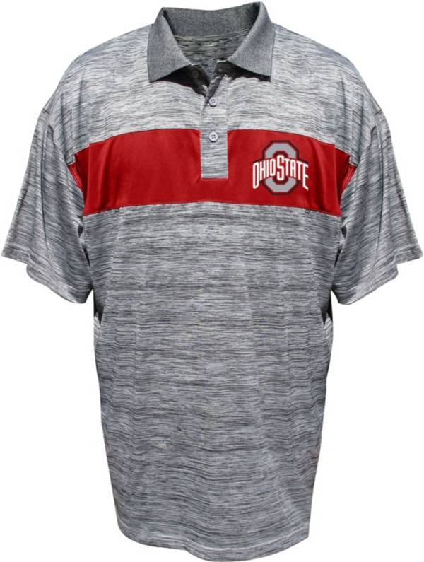 Majestic Men's Big and Tall Ohio State Buckeyes Scarlet Textured Polo product image