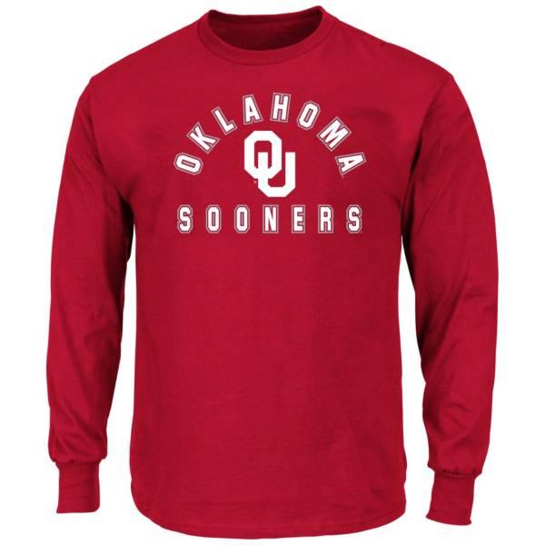 Profile Varsity Men's Big and Tall Oklahoma Sooners Long Sleeve T-Shirt product image