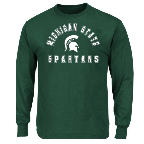 Majestic Men's Big and Tall Michigan State Spartans Long Sleeve T-Shirt product image