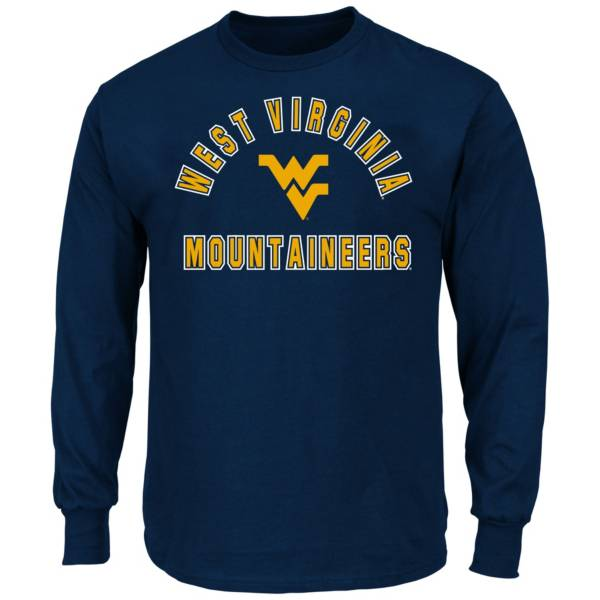 Majestic Men's Big and Tall West Virginia Mountaineers Long Sleeve T-Shirt product image