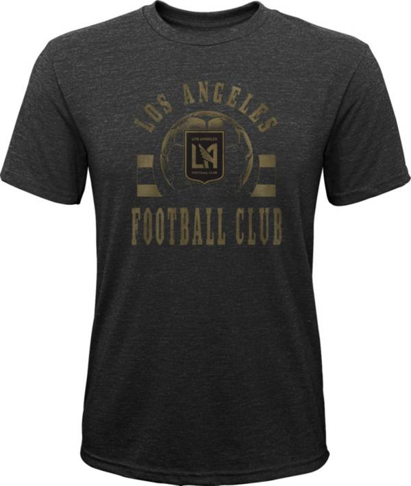 MLS Youth Los Angeles FC Retro Black Heathered Tri-Blend T-Shirt product image