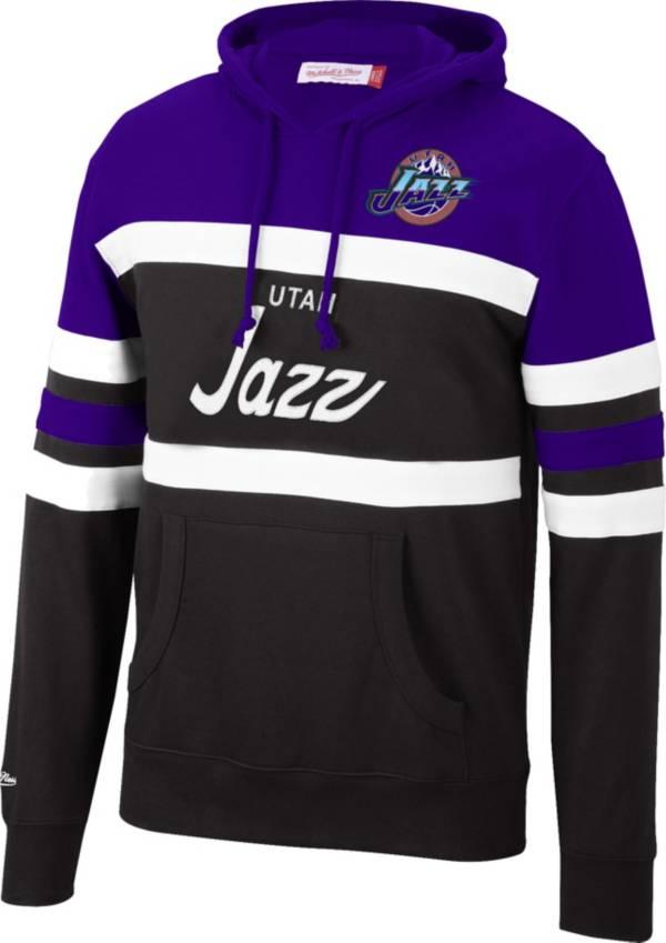 Mitchell & Ness Men's Utah Jazz Purple Coach Pullover Hoodie product image