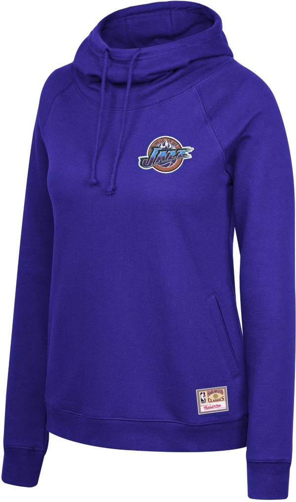 Mitchell & Ness Women's Utah Jazz Purple Funnel Neck Pullover Hoodie product image