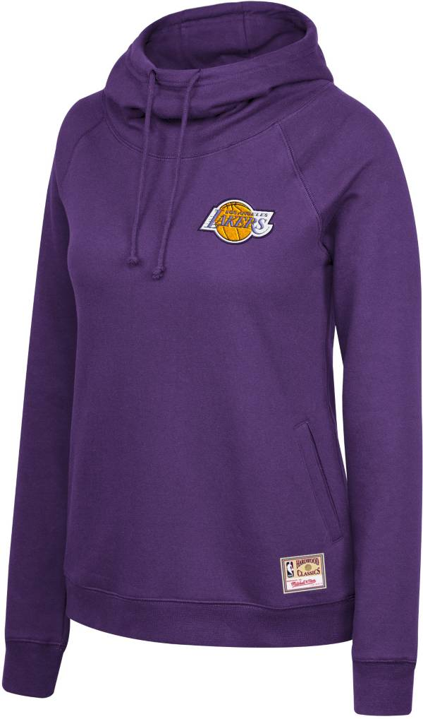 Mitchell & Ness Women's Los Angeles Lakers Purple Funnel Neck Pullover Hoodie product image