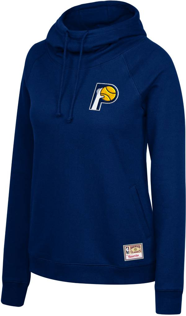 Mitchell & Ness Women's Indiana Pacers Navy Funnel Neck Pullover Hoodie product image