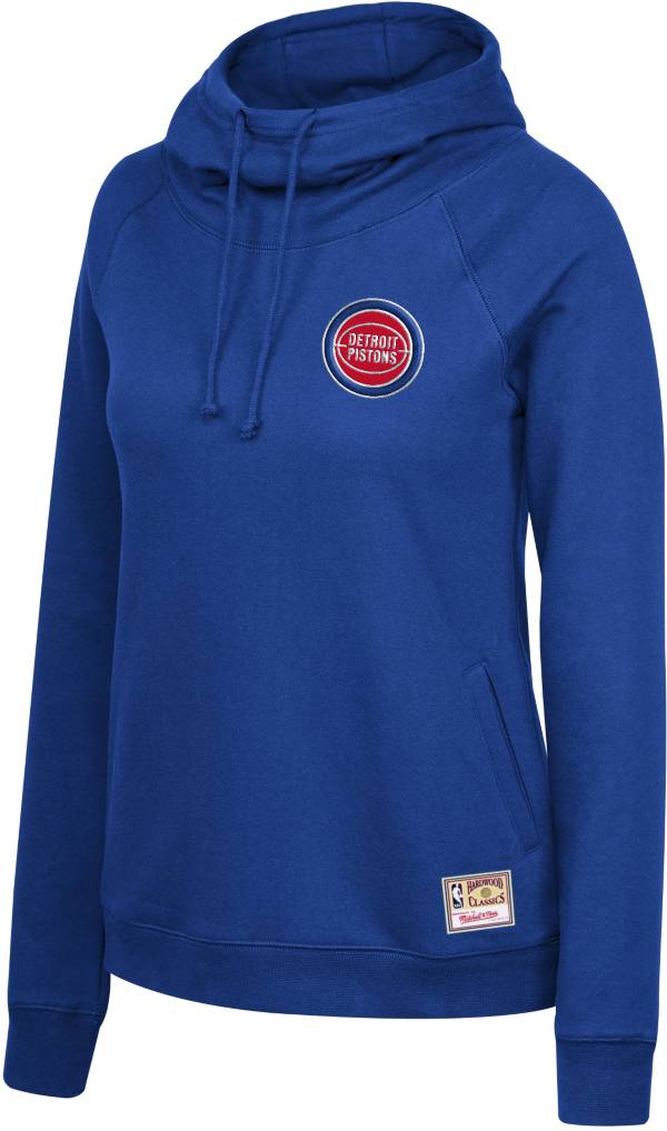 Mitchell & Ness Women's Detroit Pistons Blue Funnel Neck Pullover Hoodie product image