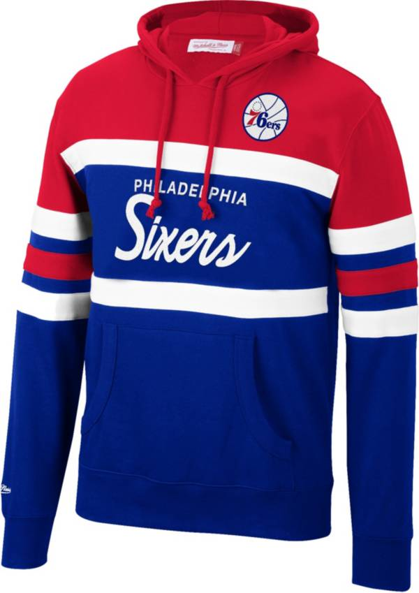 Mitchell & Ness Men's Philadelphia 76ers Red Coach Pullover Hoodie product image