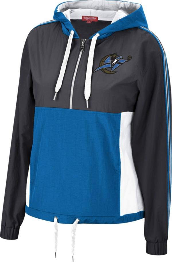 Mitchell & Ness Women's Washington Wizards Black Windbreaker Half-Zip Pullover Jacket product image