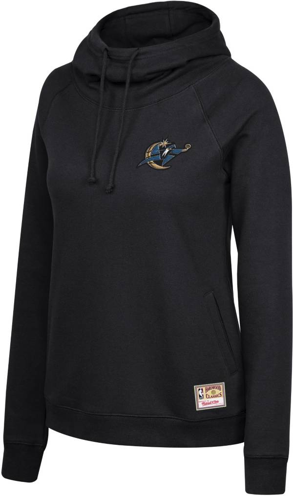 Mitchell & Ness Women's Washington Wizards Funnel Neck Pullover Black Hoodie product image