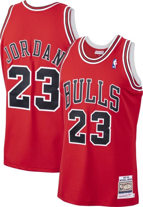 Mitchell & Ness Men's Chicago Bulls Michael Jordan #23 Authentic 1997-98 Red Jersey