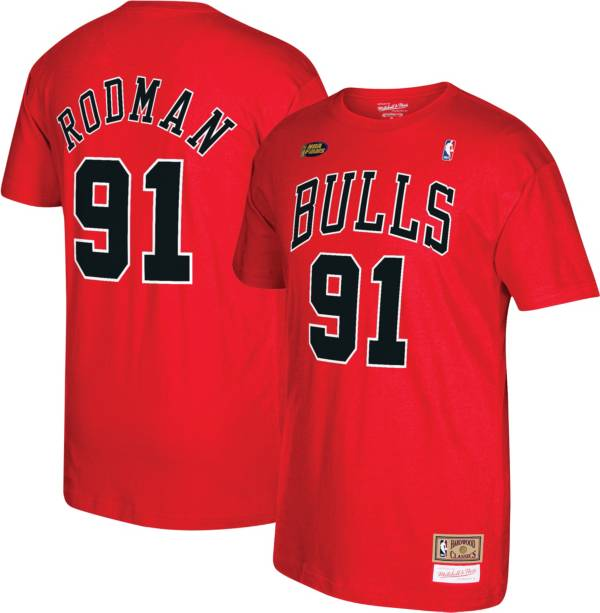 Mitchell & Ness Men's Chicago Bulls Dennis Rodman #91 T-Shirt product image