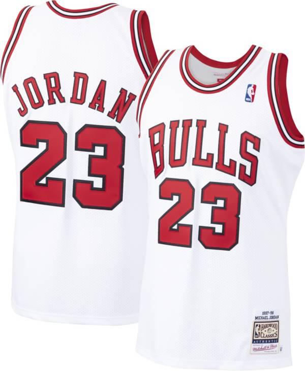 Mitchell & Ness Men's Chicago Bulls Michael Jordan #23 Authentic 1997-98 White Jersey product image