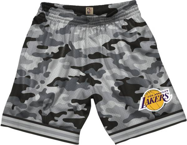 Mitchell & Ness Men's Los Angeles Lakers Grey Camo Swingman Shorts product image