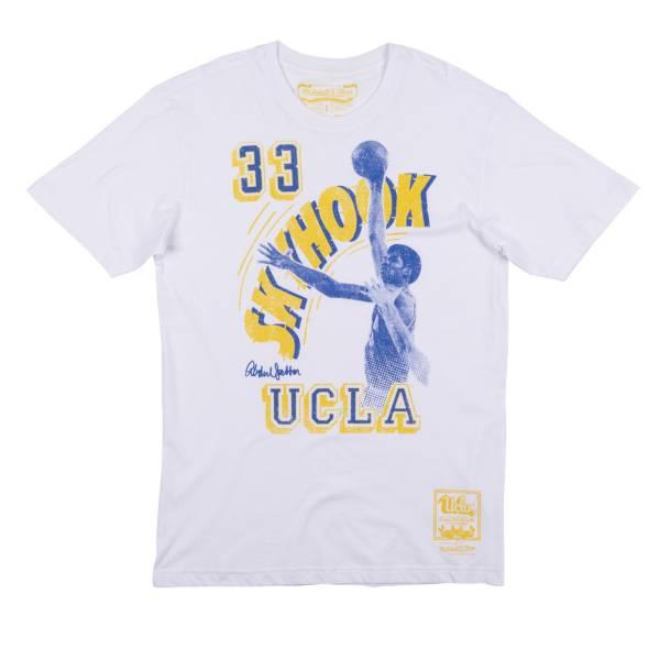 Mitchell & Ness Men's UCLA Bruins Kareem Abdul-Jabbar Skyhook White T-Shirt product image