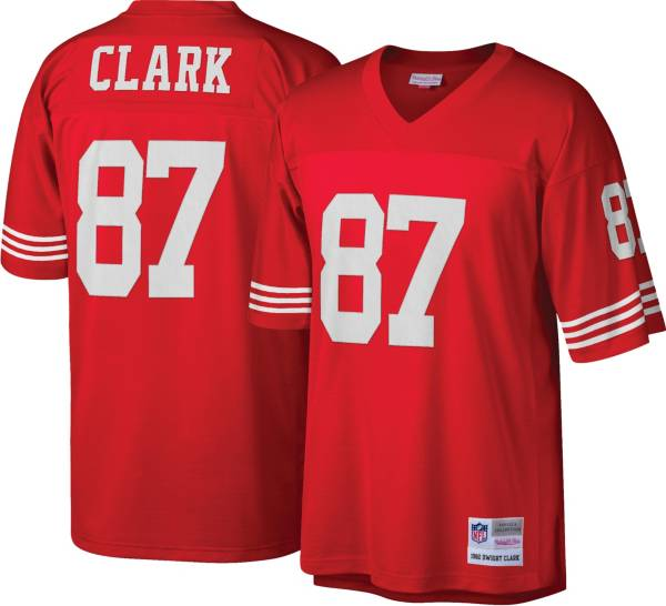 Mitchell & Ness Men's San Francisco 49ers Dwight Clark #87 Red 1982 Home Jersey product image