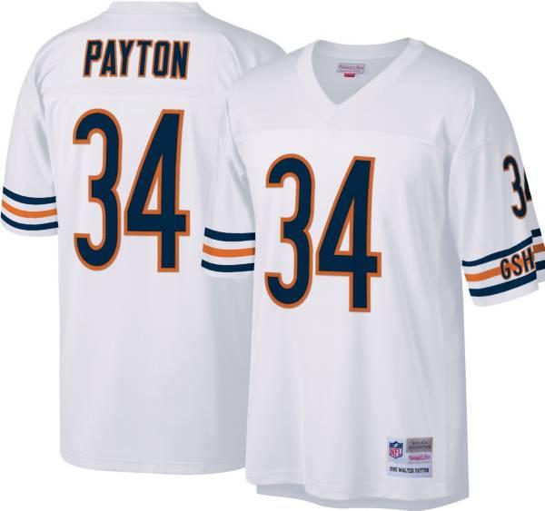 Mitchell & Ness Men's Chicago Bears Walter Payton #34 White 1985 Away Jersey product image
