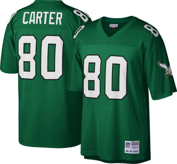Mitchell & Ness Men's Philadelphia Eagles Cris Carter #80 Green 1988 Home Jersey product image