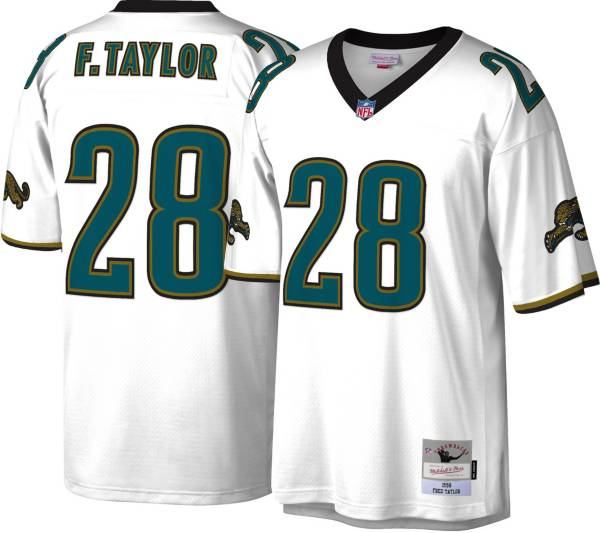 Mitchell & Ness Men's Jacksonville Jaguars Fred Taylor #28 White 1998 Away Jersey product image