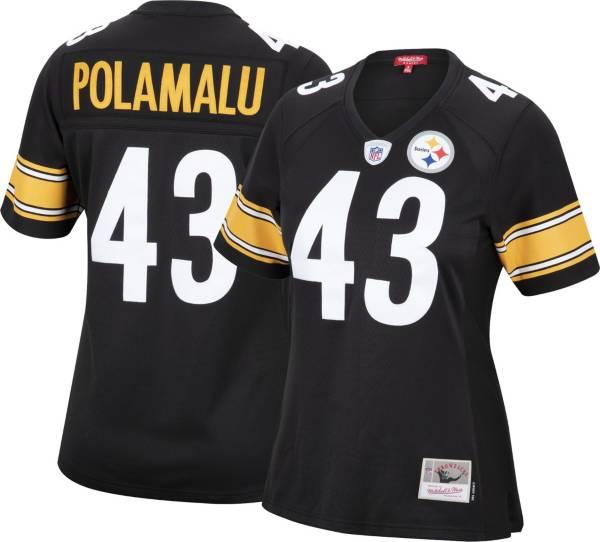 Mitchell & Ness Women's Pittsburgh Steelers Troy Polamalu #43 Black 2005 Home Jersey