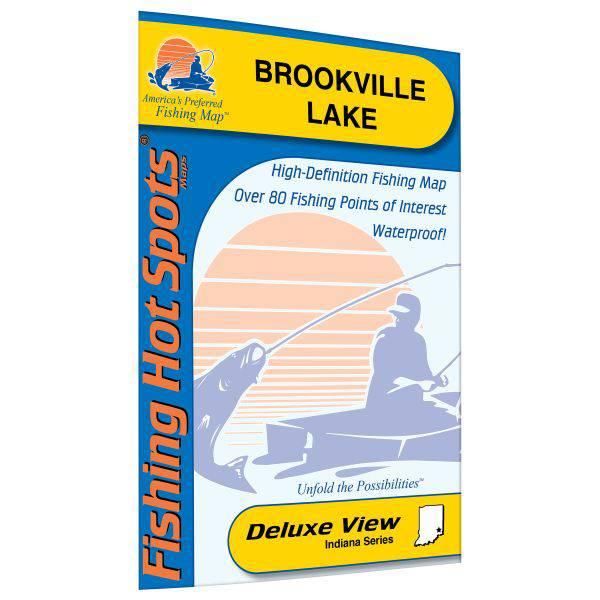 Fishing Hot Spots Brookville Lake Fishing Map product image