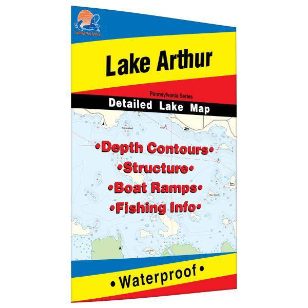 Fishing Hot Spots Lake Arthur Fishing Map product image