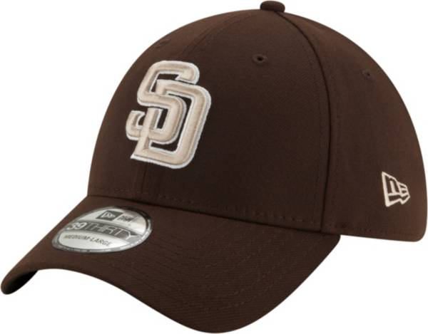 New Era Men's San Diego Padres Brown 39Thirty Stretch Fit Hat product image