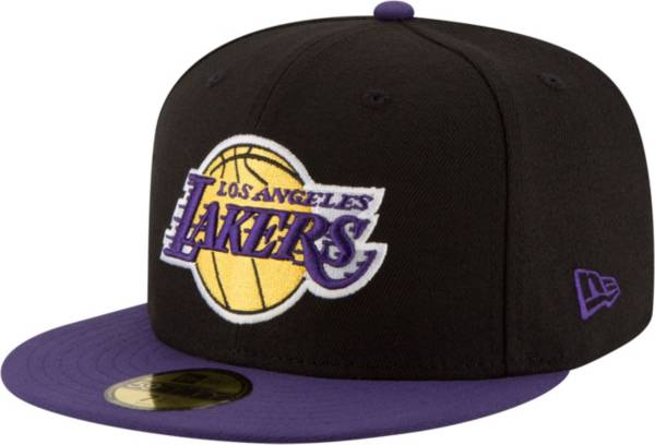 New Era Men's Los Angeles Lakers 59Fifty Black/Purple 2-Tone Fitted Hat product image
