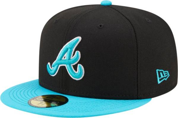 New Era Men's Atlanta Braves Black 59Fifty Colorpack Fitted Hat product image