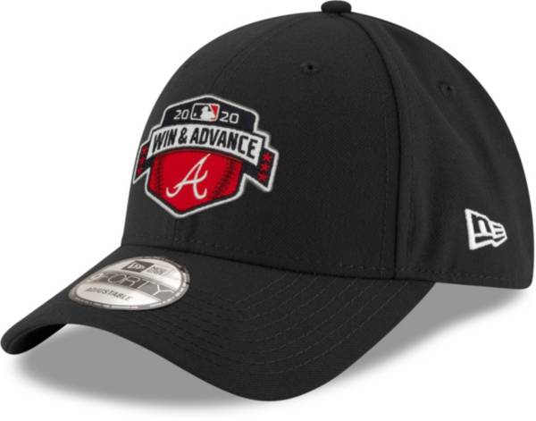 New Era Men's 2020 League Division Series Champions Atlanta Braves Black Locker Room 9Forty Adjustable Hat product image