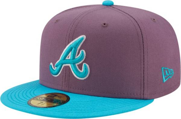 New Era Men's Atlanta Braves Purple 59Fifty Colorpack Fitted Hat product image