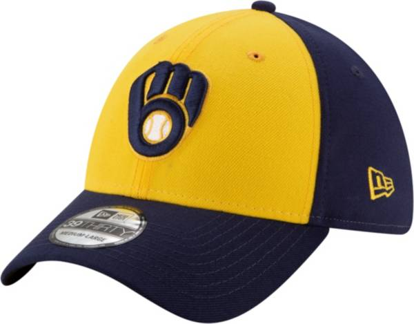 New Era Men's Milwaukee Brewers 39Thirty Navy Team Classic Stretch Fit Hat product image