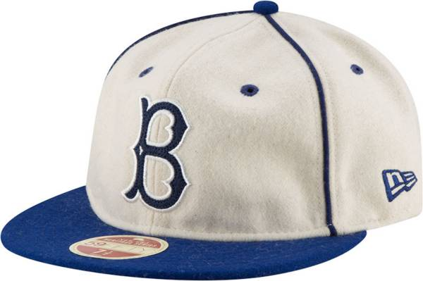 New Era Men's Brooklyn Dodgers White Melton Retro 59Fifty Fitted Hat product image