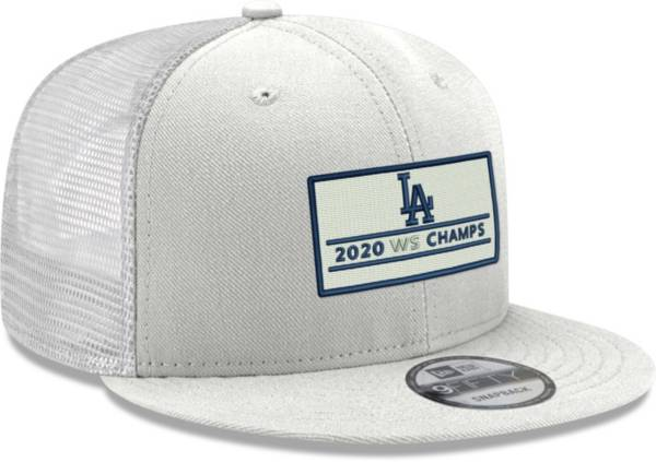 New Era Men's 2020 World Series Champions Los Angeles Dodgers 9Fifty Trucker White Adjustable Hat product image