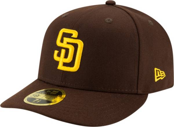 New Era Men's San Diego Padres Brown 59Fifty Low Crown Fitted Hat product image