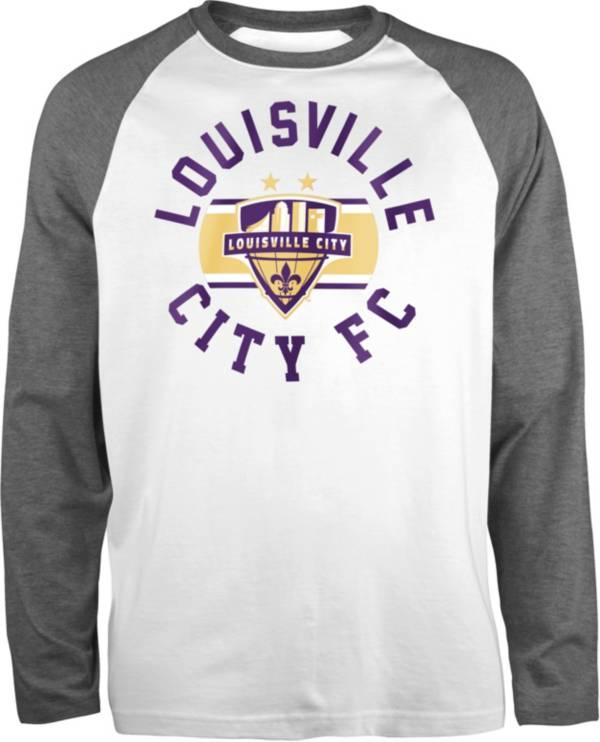 New Era Men's Louisville City FC Raglan White Long Sleeve Shirt product image