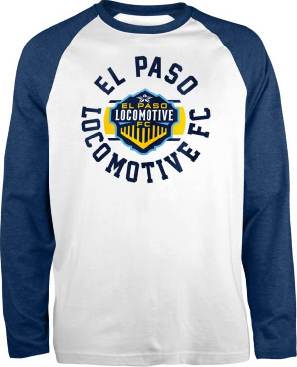 New Era Men's El Paso Locomotive FC Raglan White Long Sleeve Shirt product image