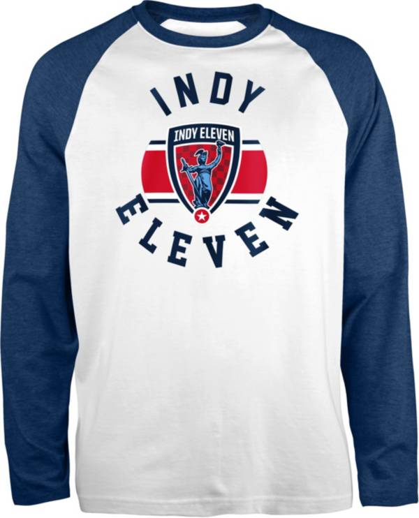 New Era Men's Indy Eleven Raglan White Long Sleeve T-Shirt product image