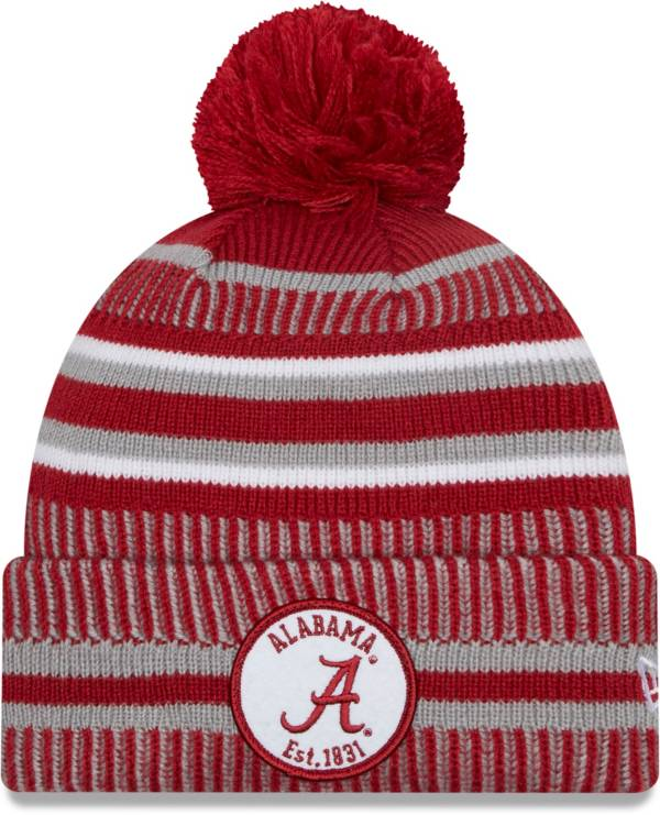 New Era Men's Alabama Crimson Tide Crimson Sport Knit Pom Beanie product image