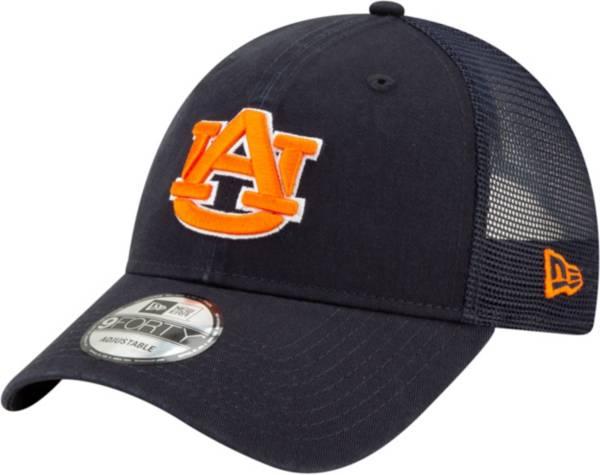 New Era Men's Auburn Tigers Blue 9Forty Trucker Adjustable Hat product image